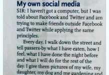 My own social media