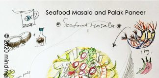 Seafood Masala & Palak Paneer by mindmapcook
