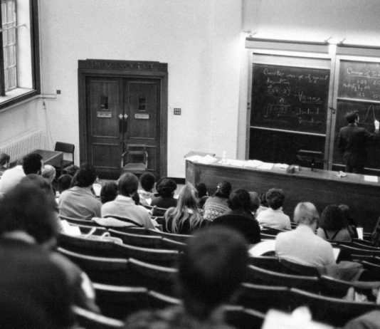 Professors will have to figure out how to deliver high-quality instruction online, instead of in large lecture halls. EVERETT COLLECTION