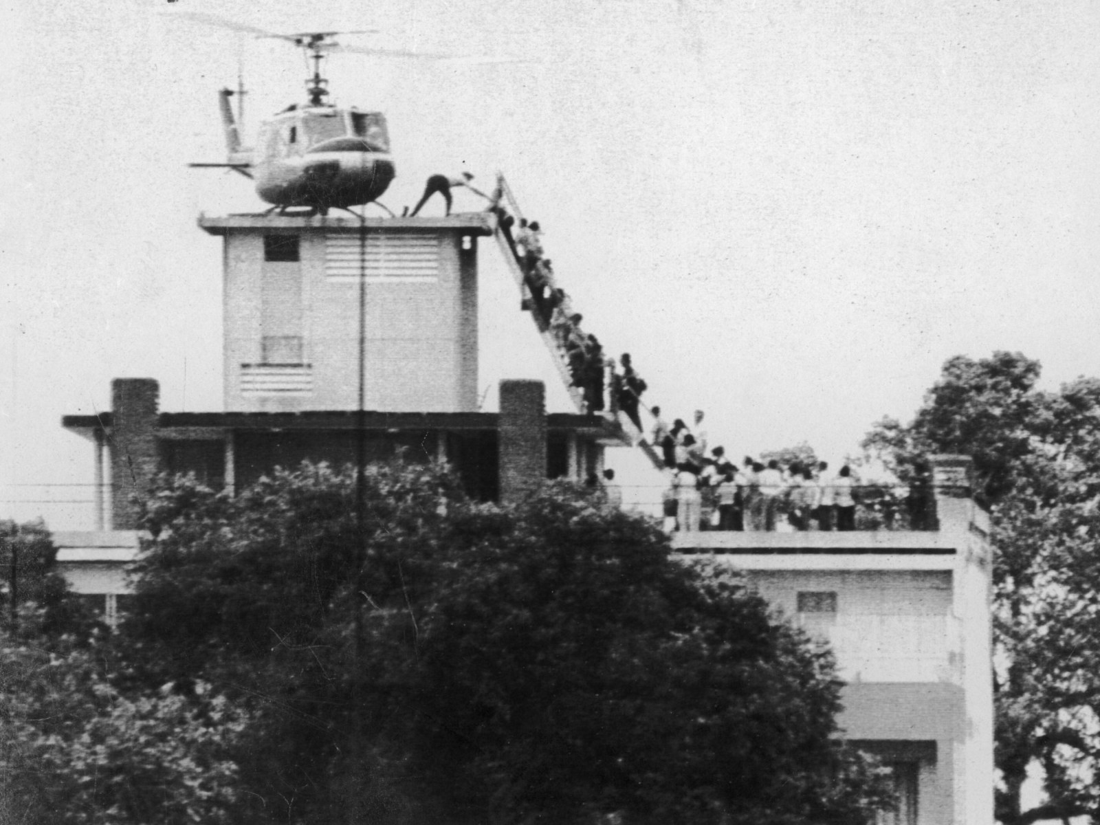 The last helicopter evacuating Saigon